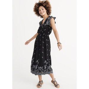 A&F | Embroidered Midi Dress